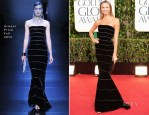 Stacy Keibler In Armani Privé – 2013 Golden Globe Awards