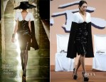 Zhang Ziyi In Georges Chakra Couture & Valentino - 'The Grandmasters' Beijing Press Conference