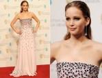 Jennifer Lawrence In Christian Dior Couture - 2013 BAFTA Awards