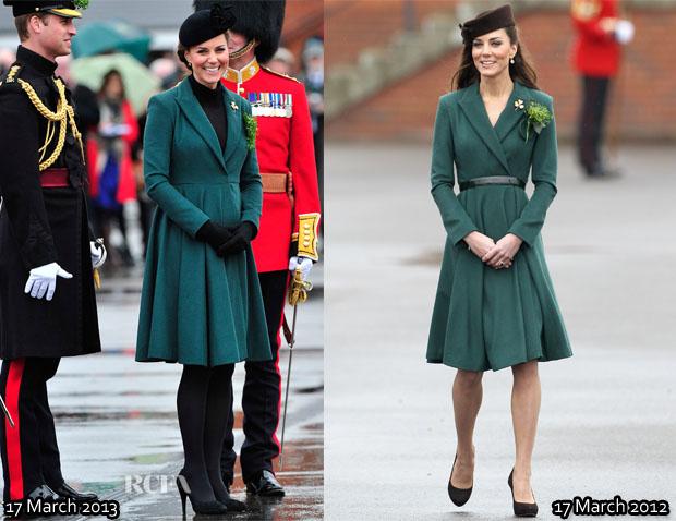Catherine, Duchess of Cambridge In Emilia Wickstead - St Patrick's Day Parade