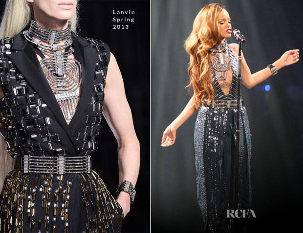 Rihanna In Lanvin - 'Diamonds' World Tour