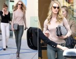 Rosie Huntington-Whiteley In Helmut Lang - Out In Beverly Hills