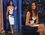 Selena Gomez In Antonio Berardi - Late Night with Jimmy Fallon