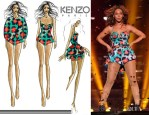 Beyonce Knowles In Kenzo - Mrs Carter World Tour