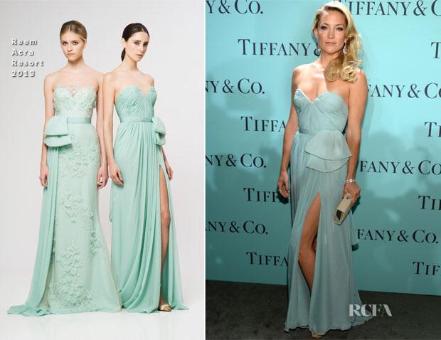 Kate Hudson In Reem Acra - Tiffany & Co Blue Book Ball