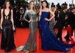 Irina Shayk, Alessandra Ambrosio & Liu Wen In Roberto Cavalli - 'All Is Lost' Cannes Film Festival Premiere