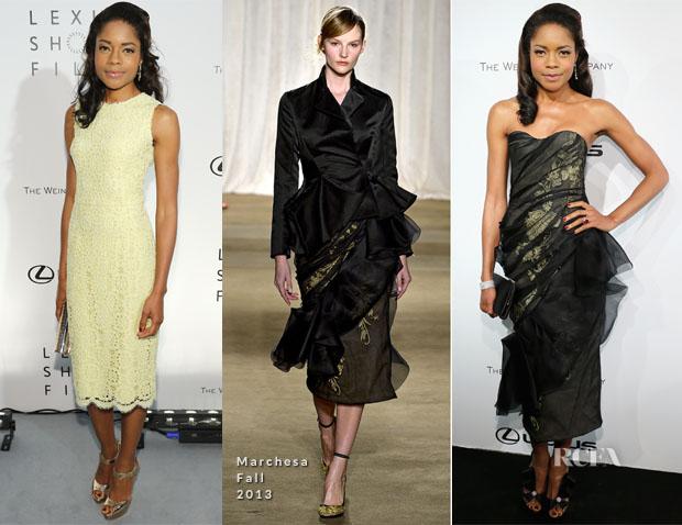 Naomie Harris In Dolce & Gabbana & Marchesa - 'Life Is Amazing' Presentation & The Weinstein Company Party