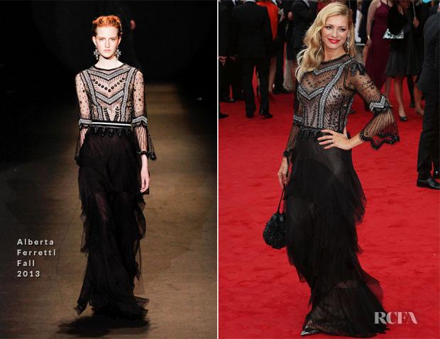 Tess Daley In Alberta Ferretti - British Academy Television Awards 2013