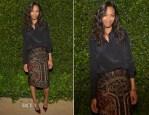 Zoe Saldana In Prabal Gurung - Vogue and MAC Cosmetics Dinner Party
