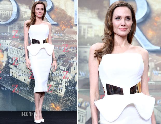 Angelina Jolie In Ralph & Russo - 'World War Z' Berlin Premiere