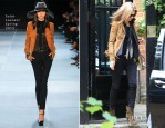Kate Moss In Saint Laurent - Out In London