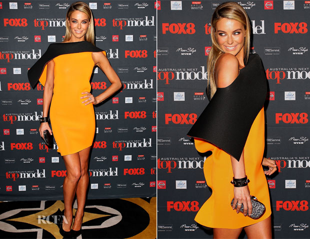 Jennifer Hawkins In Toni Maticevski - Australia's Next Top Model Season 8 Launch