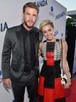 Liam Hemsworth in Hugo Boss and Miley Cyrus in Proenza Schouler