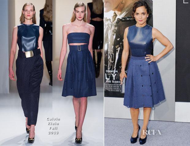 Alice Braga In Calvin Klein Collection - 'Elysium' LA Premiere