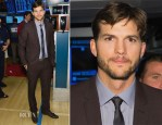 Ashton Kutcher In Burberry - NYSE Opening Bell