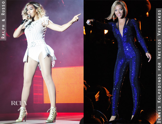 Beyonce Knowles' Multiple Costume Changes At V Festival 2