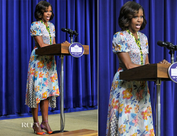 Michelle Obama In Duro Olowu - 'The Powerbroker Whitney Young's Fight for Civil Rights' Screening