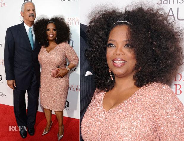 Oprah Winfrey In Theia - 'The Butler' New York Premiere