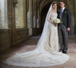 Princess Claire Of Luxembourg Married HRH Prince Felix of Luxembourg In Elie Saab Couture