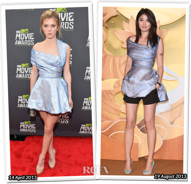 Who Wore Christian Dior Better Claire Julien or Kelly Chen