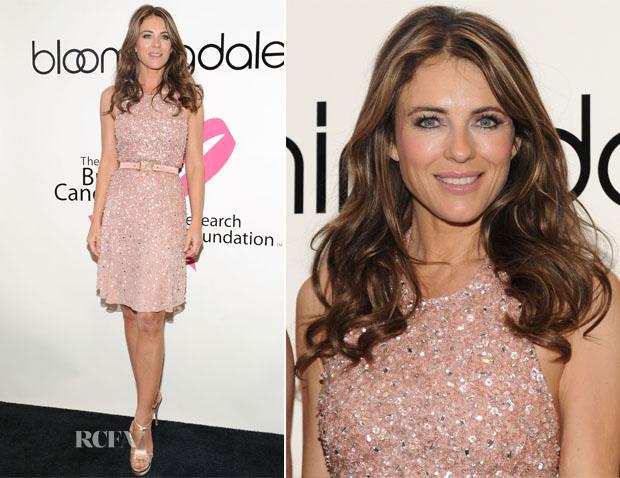 Elizabeth Hurley In Versace Collection -  Bloomingdales Kicks Off Breast Cancer Awareness Month