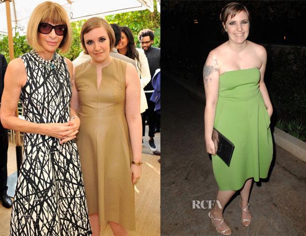 Lena Dunham In Reed Krakoff - Vogue CFDA Fashion Fund Dinner