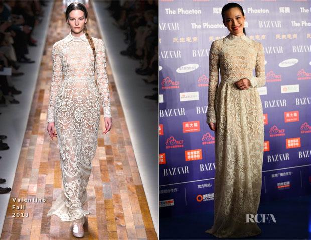 Shu Qi In Valentino - 2013 Bazaar Stars Charity Night