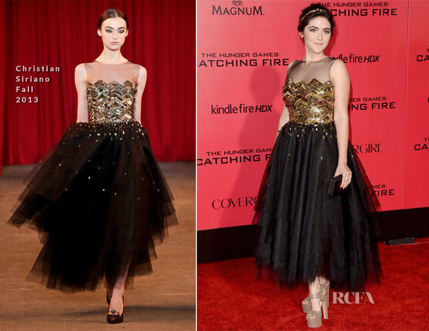 Isabelle Fuhrman In Christian Siriano - 'The Hunger Games Catching Fire' LA Premiere