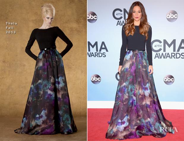 Jana Kramer In Theia - 2013 CMA Awards
