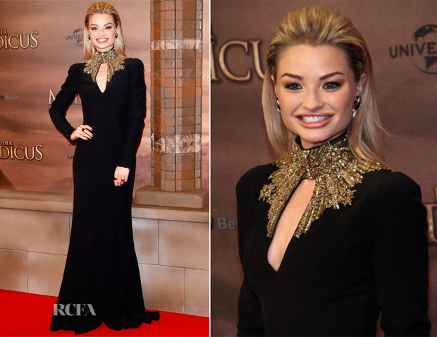 Emma Rigby In Alexander McQueen - 'The Physician' Berlin Premiere