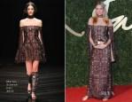 Jodie Kidd In Marios Schwab - British Fashion Awards 2013