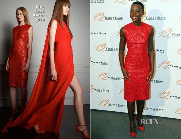 Lupita Nyong'o In Elie Saab - '12 Years a Slave' Paris Premiere
