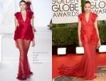 Berenice Bejo In Giambattista Valli Couture - 2014 Golden Globe Awards