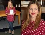 Drew Barrymore In Topshop & J Brand - Barnes & Noble Book Signing