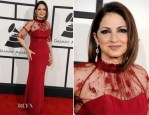 Gloria Estefan In Gustavo Cadile - 2014 Grammy Awards