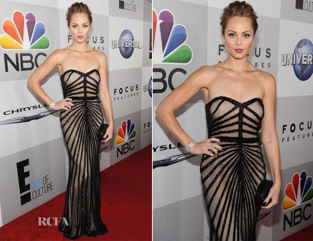 Laura Vandervoort In Rachel Gilbert - NBC Universal's Golden Globes After Party