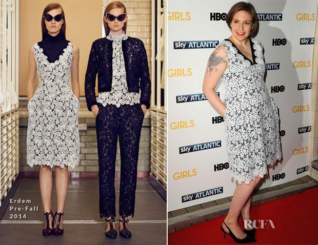 Lena Dunham In Erdem - 'Girls' Season 3 London Premiere