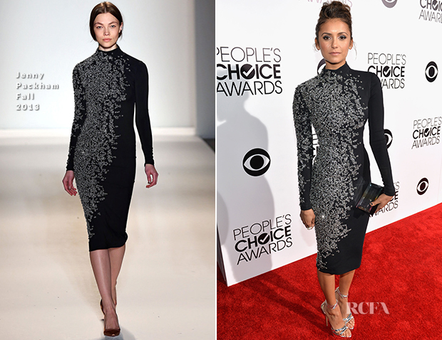 Nina Dobrev In Jenny Packham - 2014 People's Choice Awards