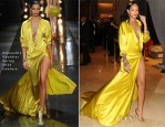 Rihanna In Alexandre Vauthier Couture - Clive Davis' Pre-Grammy Party