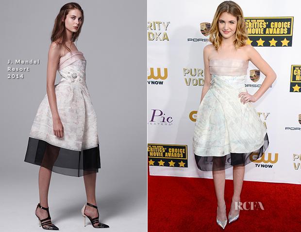 Sophie Nelisse In J. Mendel - 2014 Critics' Choice Movie Awards