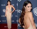 Vanessa Hudgens In Giorgio Armani - InStyle and Warner Brothers Golden Globes Awards Party