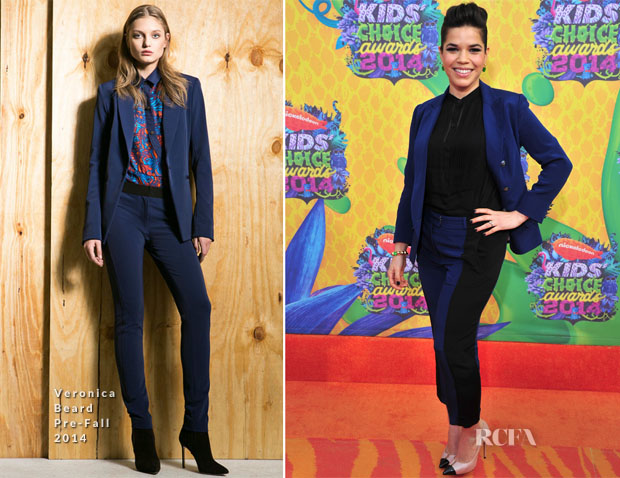 America Ferrera In Veronica Beard - Nickelodeon Kids' Choice Awards 2014