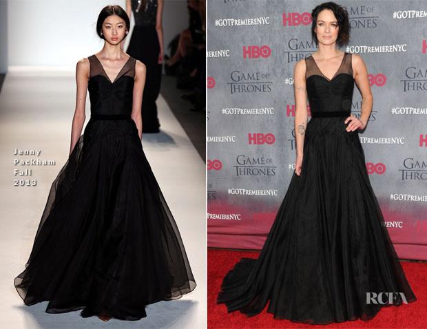 Lena Headey In Jenny Packham - 'Game Of Thrones' Season 4 New York Premiere