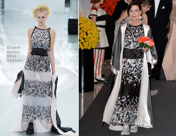 Princess Caroline In Chanel Couture - Rose Ball 2014