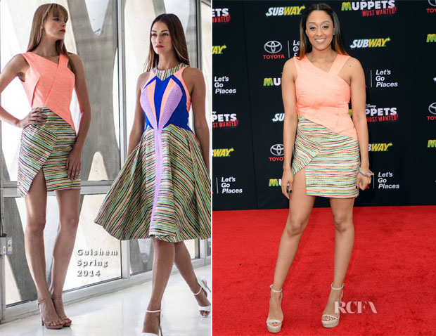Tia Mowry In Guishem - 'Muppets Most Wanted' LA Premiere