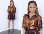 Jennifer Lopez In Lanvin & Vivienne Westwood Red Label - 'American Idol Season 13: Top 5 To 4′ Live Show
