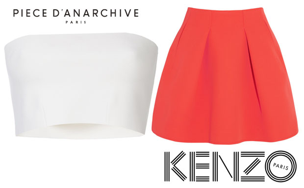 Jessica Alba In Piece d'Anarchive &  Kenzo skirt