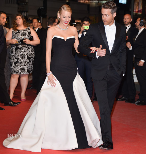 Blake Lively In Gucci Première & Ryan Reynolds In Gucci – 'Captives' Cannes Film Festival Premiere