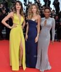 Isabeli Fontana, Grazi Massafera & Tais Araujo - 'Saint Laurent' Cannes Film Festival Premiere