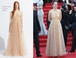 Celine Sallette In Valentino - 'Geronimo' Cannes Film Festival Premiere